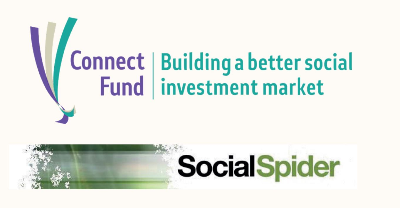 Connect Fund and Social Spider logos